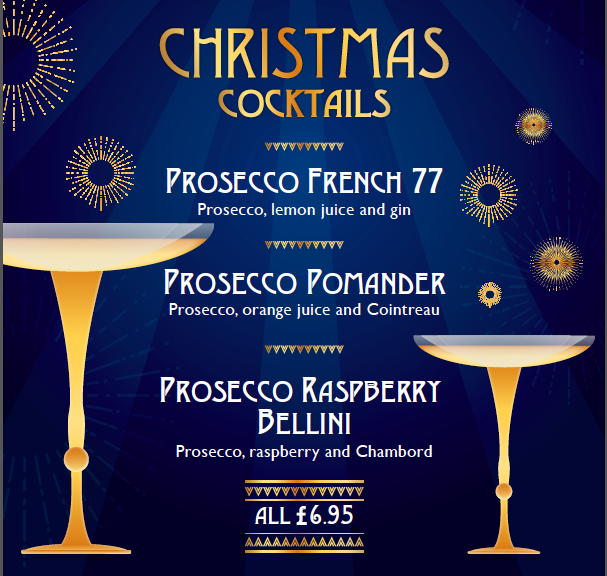 Xmas Cocktails poster